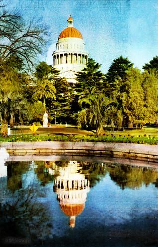california interesting postcard sacramento statecapitol