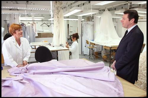 Delphine Arnault Visite des Ateliers Dior
