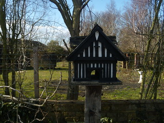 Mock Tudor birdbox