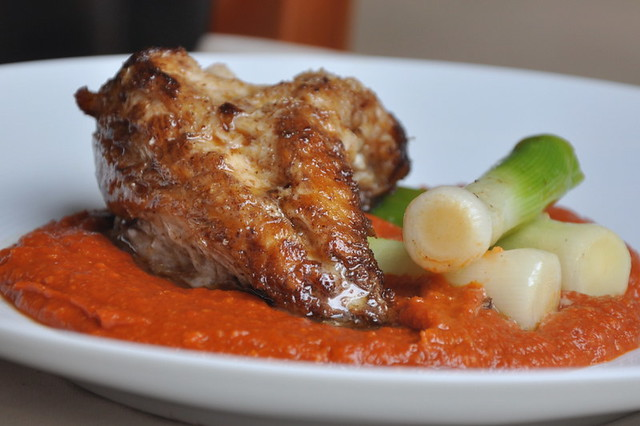 Roasted monkfish with romesco sauce turntable kitchen for Monk fish recipes