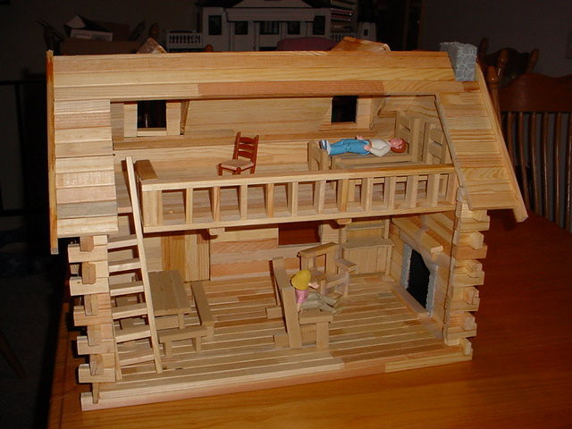 Oregon Trail Log Cabin Dollhouse For Nathan Emmiehawk