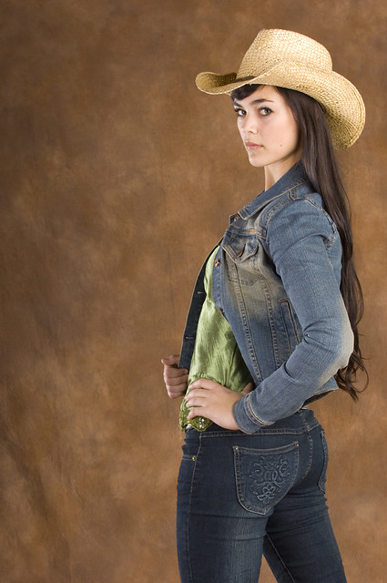 Cowgirl In Green And Jeans - A Photo On Flickriver-8090