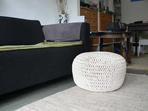 Gehaakte poef / Crochet pouf or footstool , a photo by evstra on ...