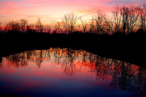 pink ohio sunrise westerville villageatharvestwind
