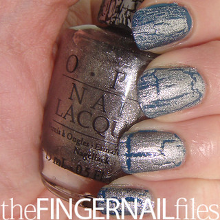 OPI Silver Shatter over POP beauty ...