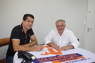 O presidente estadual David Martins e pré-candidato a deputado federal Cunha Lima