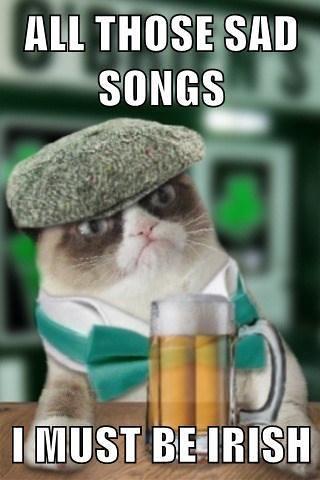 Grumpy Cat must be irish