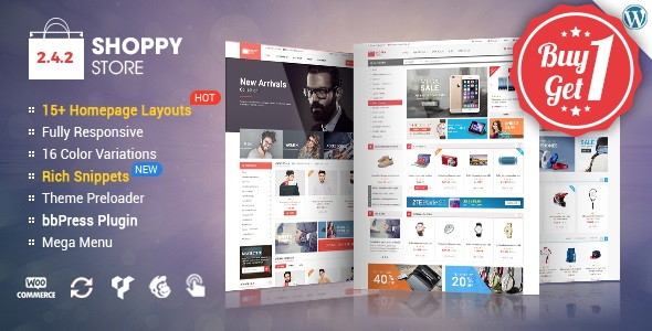 ShoppyStore v2.4.2 - WooCommerce WordPress Theme