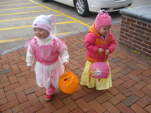 Trick-or-treating! (Isabel and Vivianne)