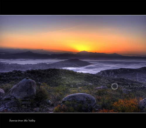 california blue red sky orange mountains color grass fog clouds sunrise landscape rocks purple sandiego valley hdr escondido nikkor1755f28 nikond90 rubyphotographer