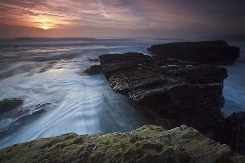 california longexposure sunset sky usa color beach beautiful rock clouds canon eos sand tripod richard lowtide davenport gitzo formations tms holeinthewall roughseas tellmeastory topseven platinumphoto g1178m theunforgettablepictures ef1635mmf28lii 5dmark2 richardmatyskiewicz matyskiewicz g026 topsevengallery