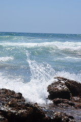 Wave Splashes on Rock on Ballito Beach