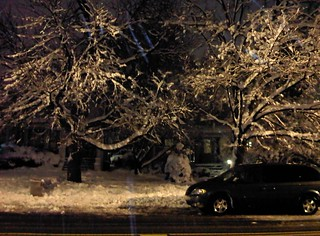Aycrigg Avenue view, blizzard