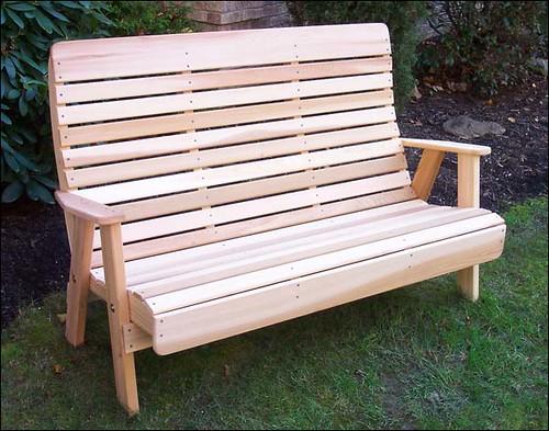 Red Cedar Royal Highback Garden Bench Flickr Photo Sharing