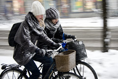 Snow Chatting - Cycling in Winter in Copenhagen