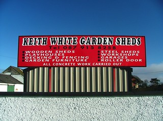 Carlingford- The Bush- Keith White Garden Sheds sign- DSCF5293