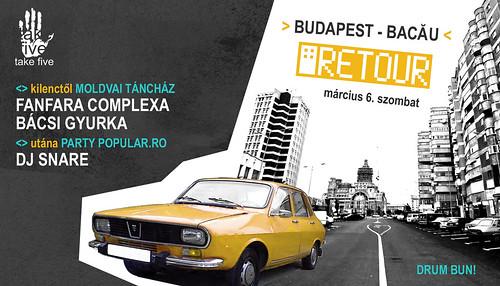 Budapest - Bacau RETOUR