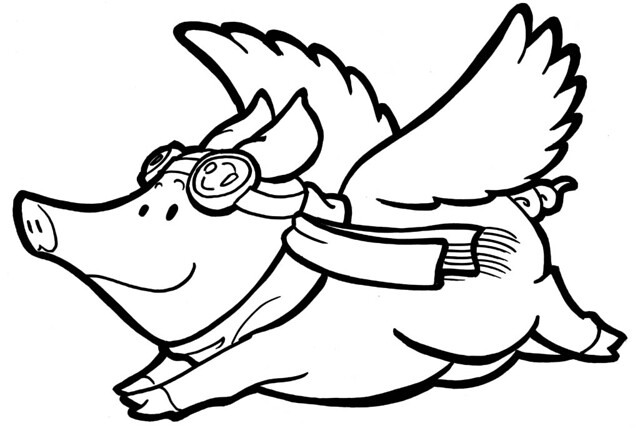 When pigs fly... | ...they will look this dapper and ...