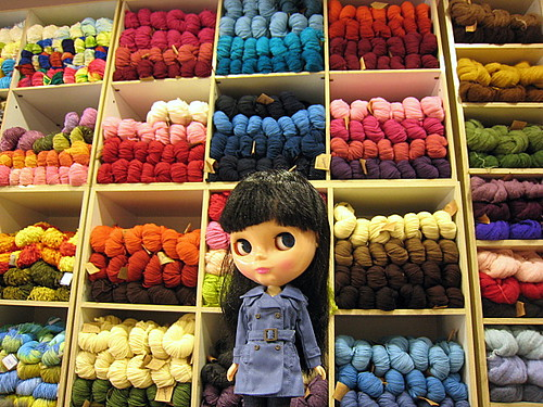 Ramona and my small stash of yarn :) (81/365)