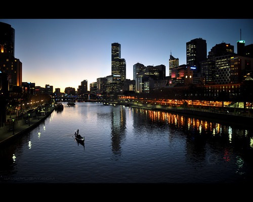 city travel sky reflection water silhouette skyline buildings river lights evening boat twilight nikon waves sailing skyscrapers australia melbourne victoria yarra sailor d90