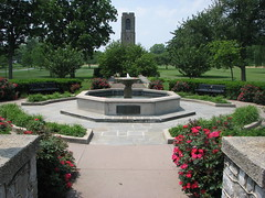 The Fountain and Garden at Baker Park