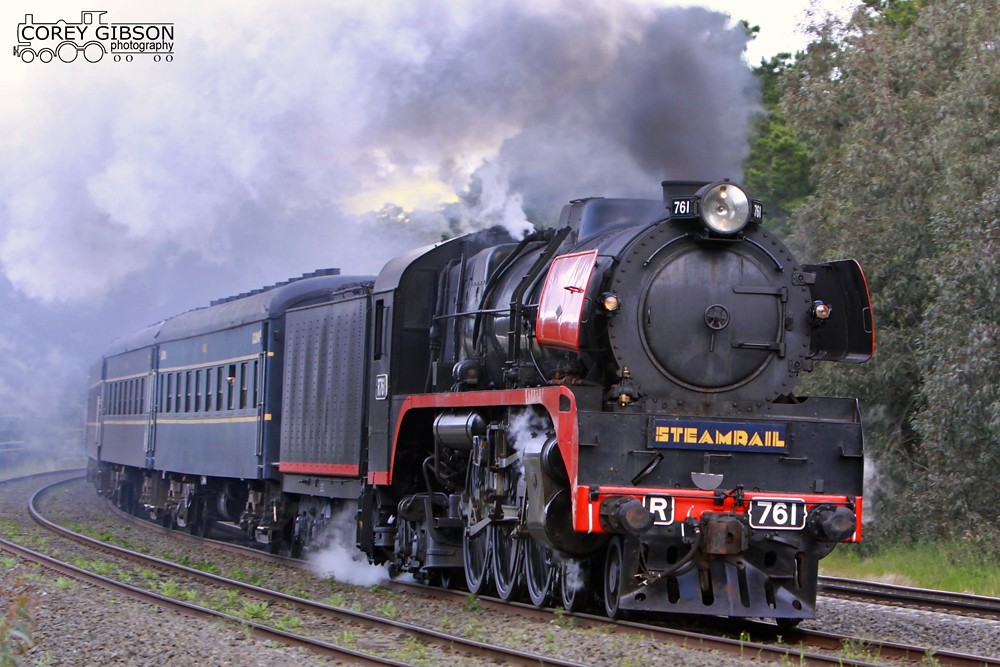 R761 powers through Broadford, Victoria by Corey Gibson