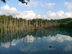 blue pond @ biei