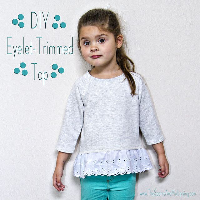 DIY Eyelet-Trimmed Top (Gap Inspired)