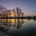 Morgenstimmung am Neckar by M. Jaeger