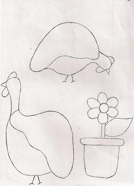 Molde galinha de Angola e vaso de flor | Flickr - Photo Sharing!