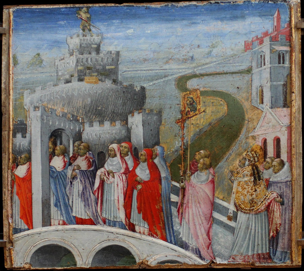 The Procession of Saint Gregory to the Castle Sant'Angelo, c. 1465