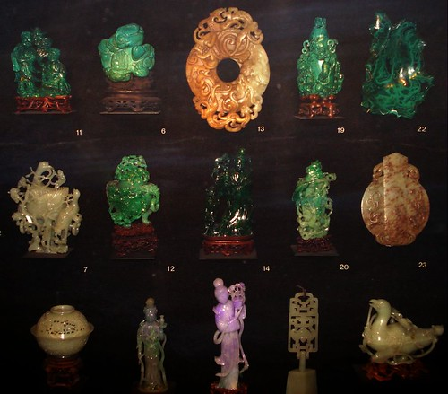 Nephrite and Malachite  in Museum of Natural History, NY