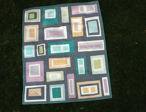 Rectangles & Gray Lap Quilt