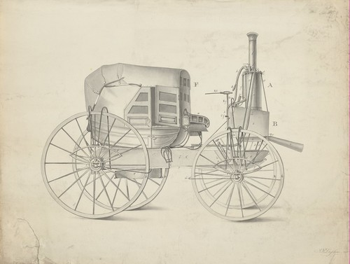 Stoomautomobiel / Steam automobile