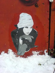 China girl chilling in the snow