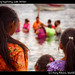 Kids watching baptising, Lake Atitlan