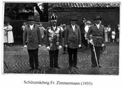 1935, Schützenkönig Fritz Zimmermann, SW037