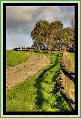 road park fence point happy shadows path framed hill dump trail 100views friday vanishing hdr landfill baylands menlo bayfront hff photomatix tonemapped 5186 5187 5188
