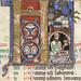 The Hunterian Psalter: Calendar. Historiated 'K' from January.