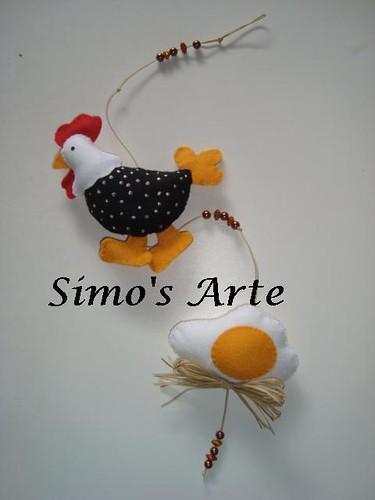 Mobile galinha e ovo by Artes by Simo's®