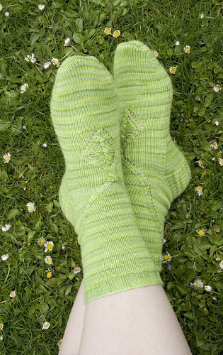 socks in grass - horizontal - print