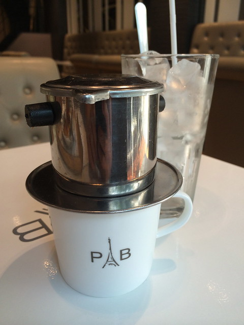 Iced Vietnamese coffee - Paris Baguette