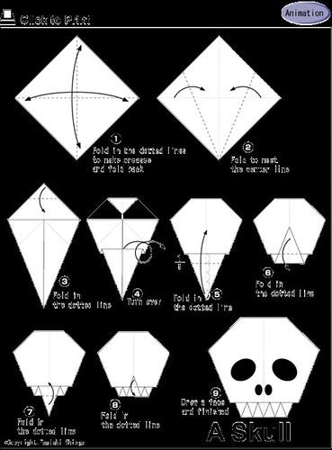 Calavera origami - Halloween