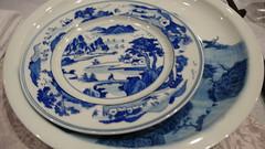 dishware, blue and white porcelain, plate, cobalt blue, tableware, saucer, ceramic, blue, porcelain,