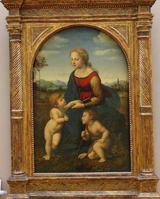 Raffaello santi dit rapha l la vierge l 39 enfant avec le for La table saint raphael