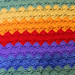 Rainbow Shells in Rows