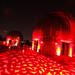 Chabot observatory lit for party