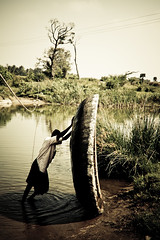 Coracle man by Naveen Roy
