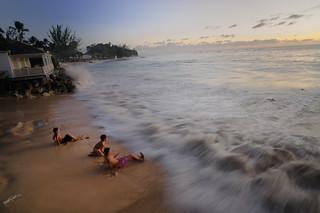 Sandpiper beach  big wave 3 December 2009