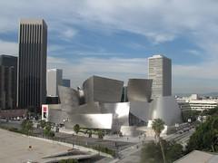 Los Angeles skyline,Disney concert Hall